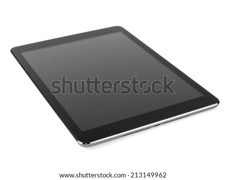 lying tablet - stock photo