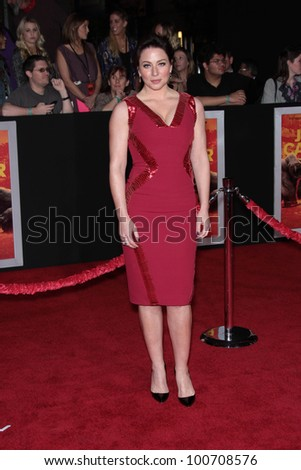 "Lynn Collins at the ""John Carter"" Los Angeles Premiere, Regal Cinemas, Los Angeles, CA 02-22-12 - stock photo"