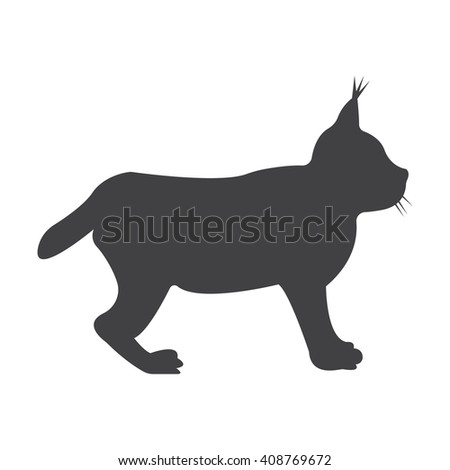 lynx black simple icon on white background for web design