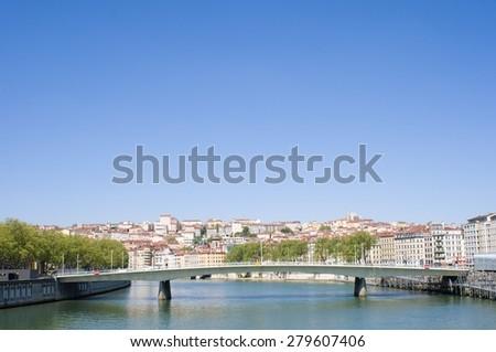 Lyon Cityscape - stock photo