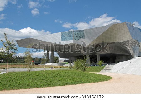 "LYON, FRANCE, September 4, 2015 : ""Musee des Confluences"" is a science and anthropology museum which opened on 20 December 2014 at  the confluence of Rhone and the Saone rivers."