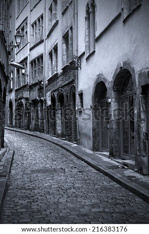 Lyon Old Town in Black and White