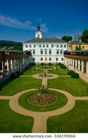 Lysice baroque castle, south Moravia, Czech Republic. - stock photo