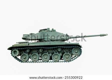 M41 A1 Battle Tank, USA isolated on white background