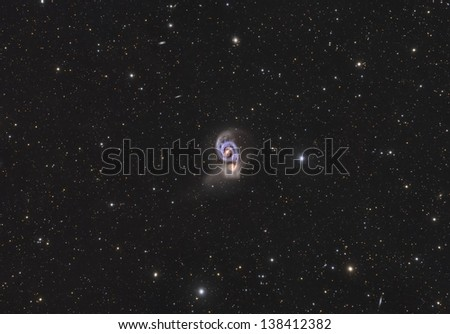 M51, Also Known as The Whirlpool Galaxy - stock photo