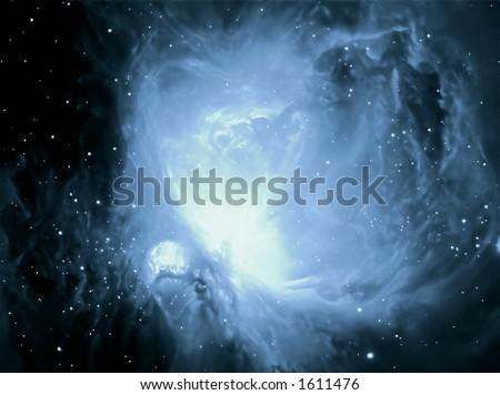M42Cyan - stock photo