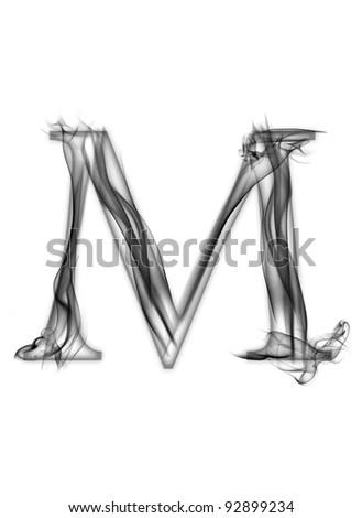m alphabet letter  Letter of smoke alphabet -