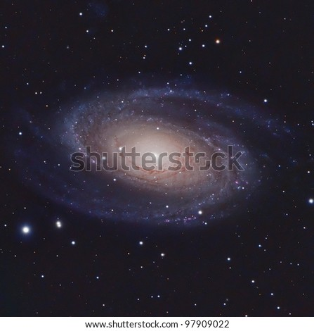 M81 or Bode's Nebula - stock photo