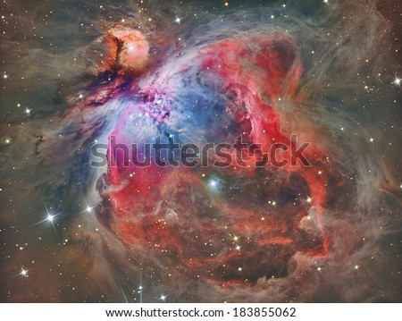 M42 Orion Nebula APOD - stock photo