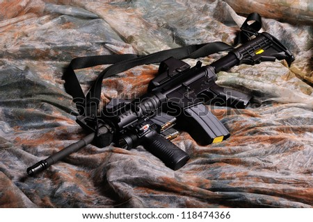 M-4 Semi-Automatic Rifle - stock photo