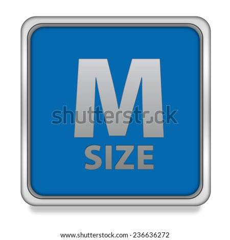 M size square icon on white background