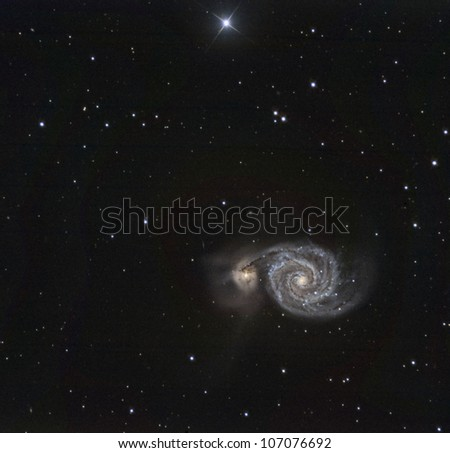M51, The Whirlpool Galaxy - stock photo