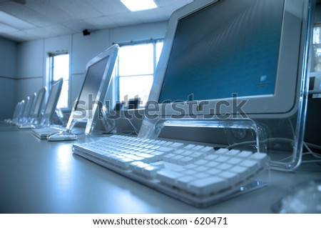 Mac Lab - stock photo
