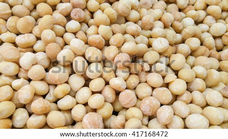 Macadamia nuts for sale at the city market - stock photo