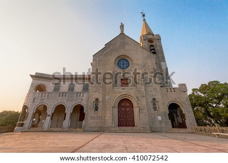 Macao, China - February , 2015 : Holiday in Macao, Penha Church