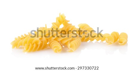Macaroni pasta close up isolated on white - stock photo