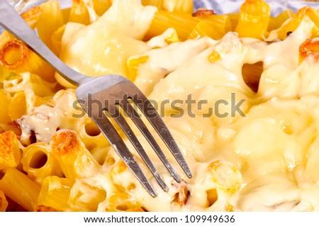Macaroni with the cheese - stock photo