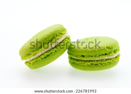 Macaroons isolated on white - stock photo