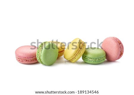 macaroons on white
