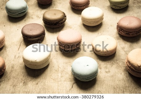 Macaroons/toned photo