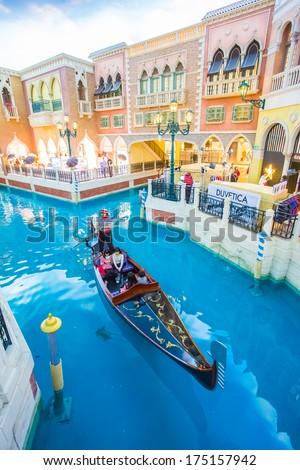MACAU - JAN 27: The Venetian Macao-Resort-Hotel Macao at day on January 27, 2013 in Macau, China. Macau is one of the world's top gambling destinations.  - stock photo