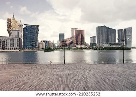 Macau  landscape downtown