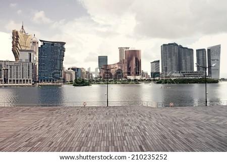 Macau  landscape downtown - stock photo