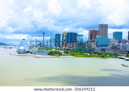 Macau landscape downtown,China - stock photo