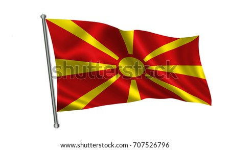 Macedonia flag, A series of flags of the world.