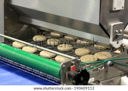machine automatically generate confectionery baking factory - stock photo