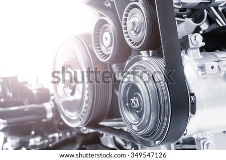 Machine belt - stock photo