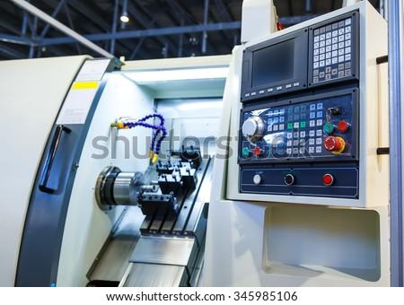 machine control panel CNC - stock photo