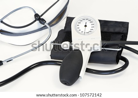 Machine for check blood pressure device - stock photo