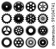 Machine Gear Wheel Cogwheel Raster - stock photo