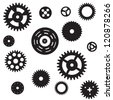 Machine Gear Wheel Cogwheel seamless pattern. Raster version. - stock photo
