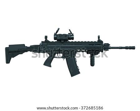 machine gun - stock photo