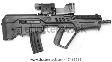 machine gun - stock photo