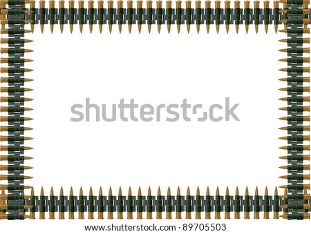 Machine Gun Ammo Belt Stock Photo Machine Gun Belt