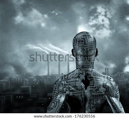 Machine Man - stock photo