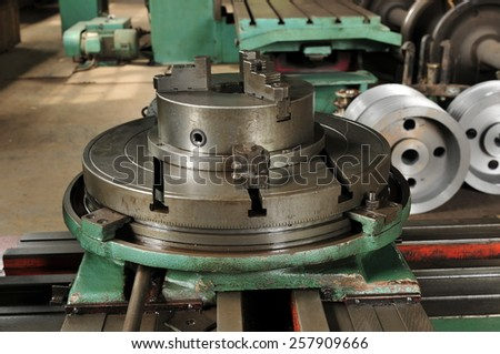 Machine shop - stock photo