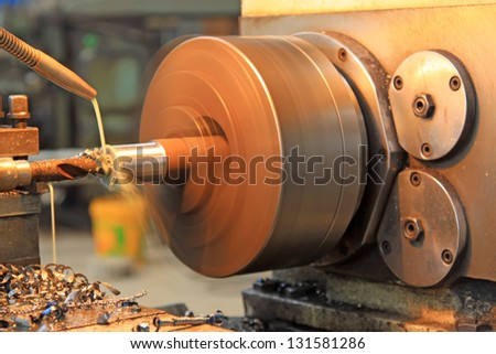 machine tool with a great speed, closeup of photo - stock photo