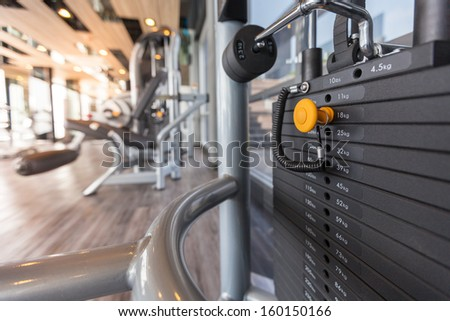 machines at the gym room