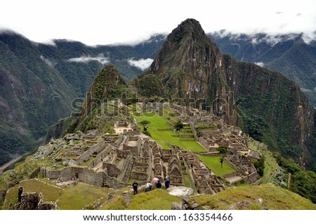 Machu Picchu - stock photo