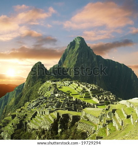Machu-Picchu - stock photo
