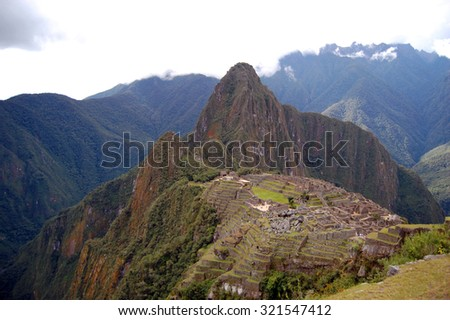 Machu Picchu and Huayna Picchu from Above