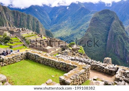 Machu Picchu in Peru - stock photo