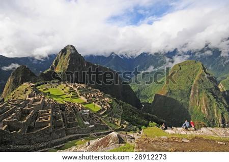 machu picchu near Cuzco, Peru - stock photo
