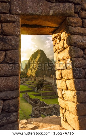 Machu Picchu, Peruvian Andes, Sacred Valley - stock photo