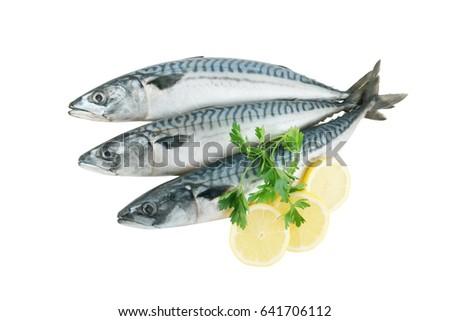 stock-photo-mackerel-fish-with-lemon-and