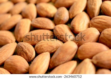 Macro Almonds 4 - stock photo